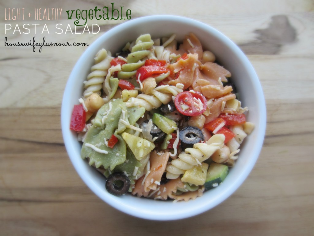 light and healthy vegetable pasta salad Housewife Glamour