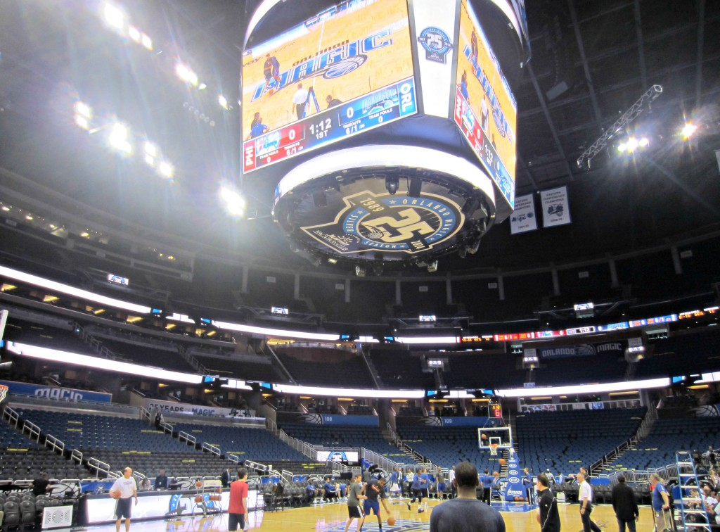Amway Center game day court