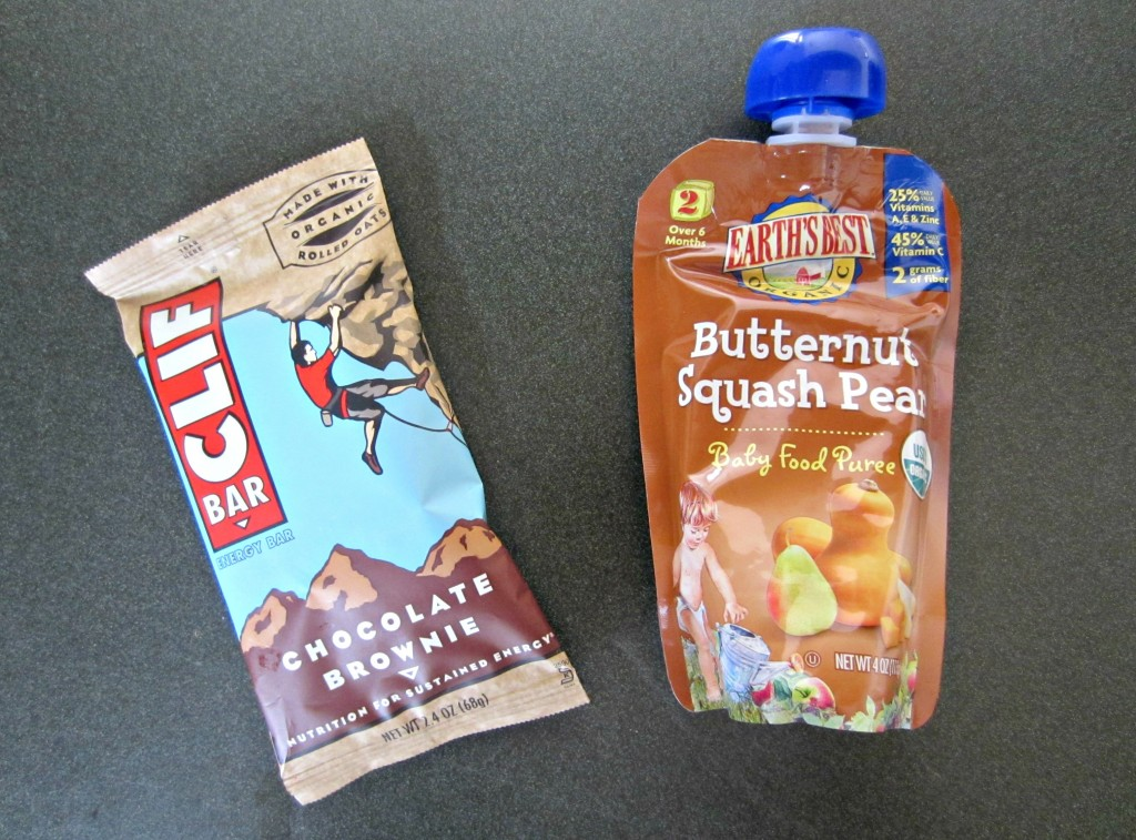 clif bar and butternut squash baby food