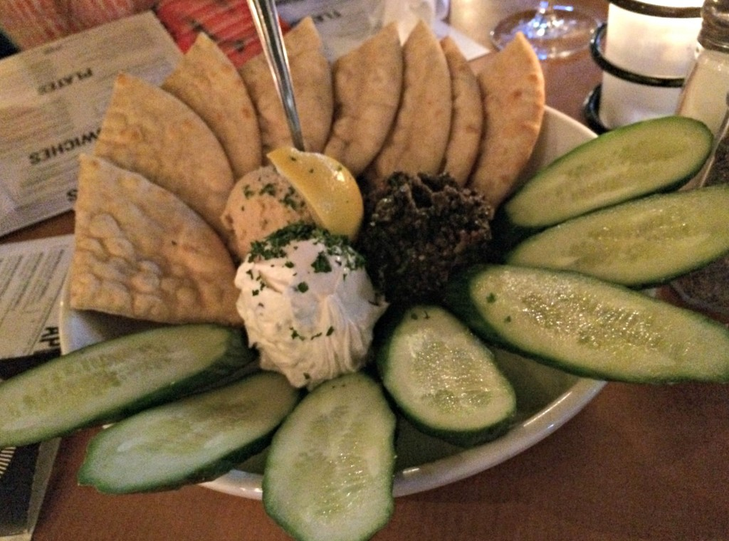 hummus plate at bar louie