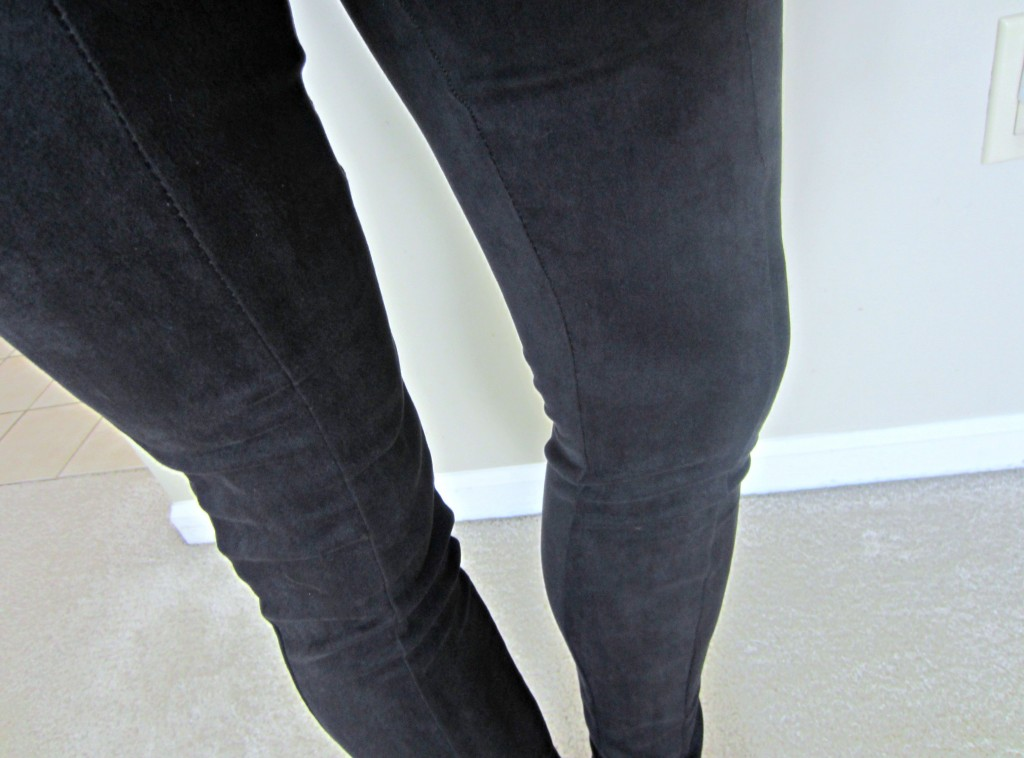 pandora stretch sueded leggings