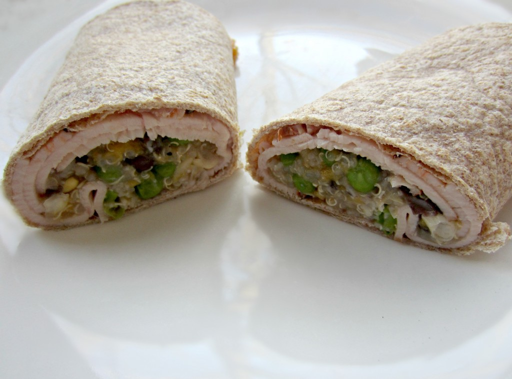 turkey and quinoa whole wheat wrap