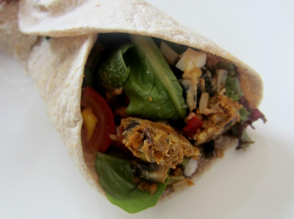 veggie burger wrap
