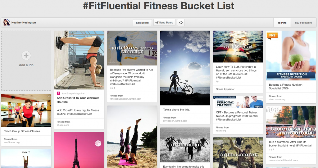 #FitFluential #FitnessBucket List Housewife Glamour
