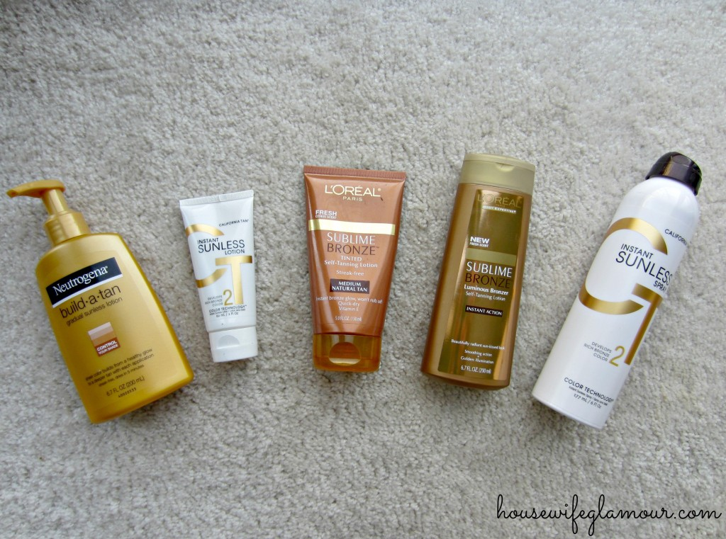 gradual to instant tanning products