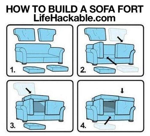 sofa fort life hack