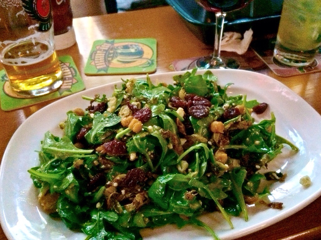 brussels sprouts salad at griffins claw