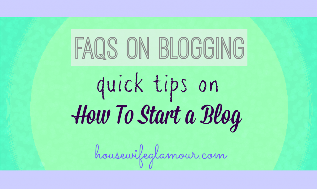 Quick Tops on How To Start a Blog