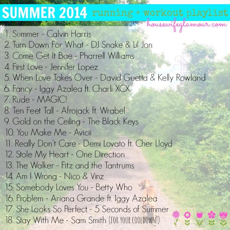 Summer 2014 Running + Workout Playlist