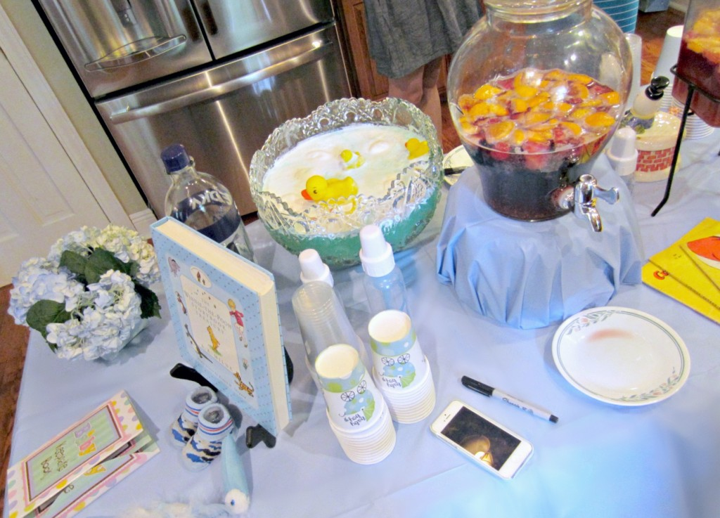 Baby Shower Punch Table
