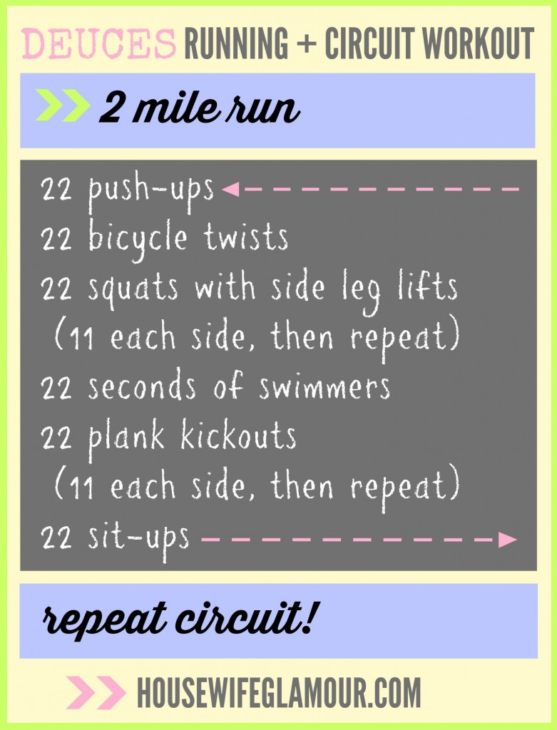 Deuces Running + Circuit Workout