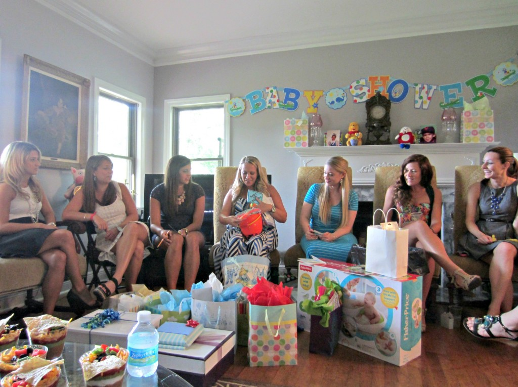 Missy opening presents with group