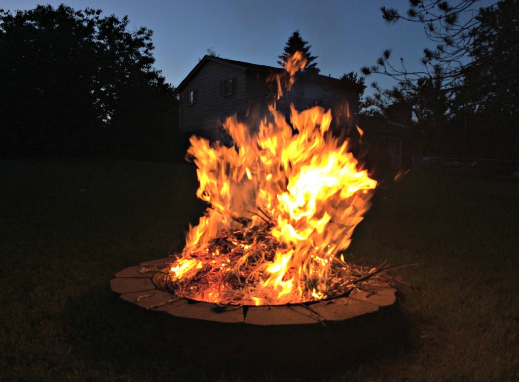 backyard bonfire