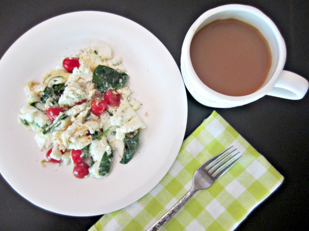 egg white with spinach and tomatoes for breakfast.jpg