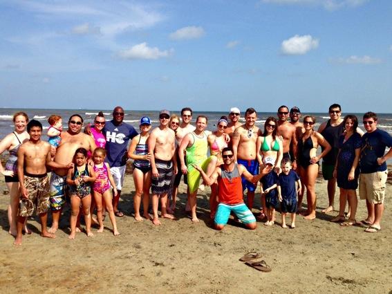 Galveston group photo on the beach jpg