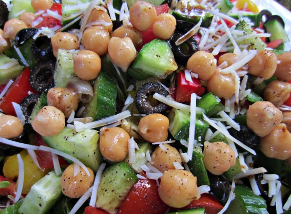 Monster veggie and bean salad close up jpg
