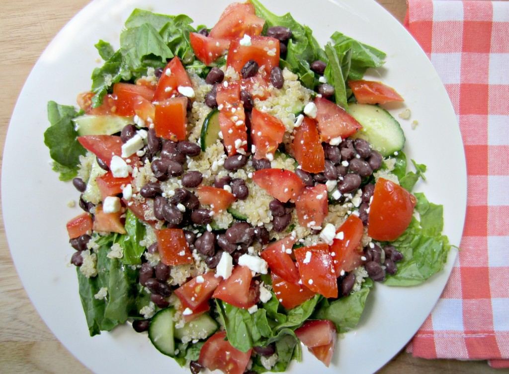 salad with quinoa and beans