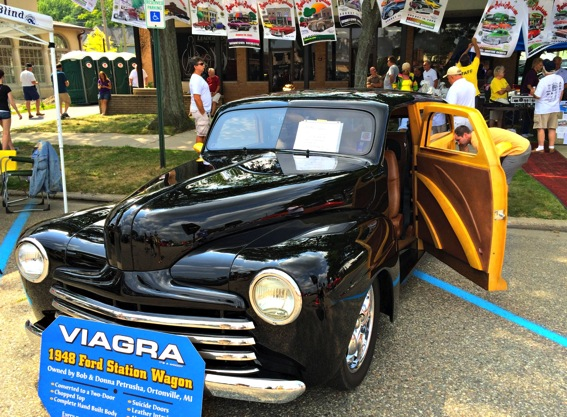 1948 ford station wagon with wood paneling