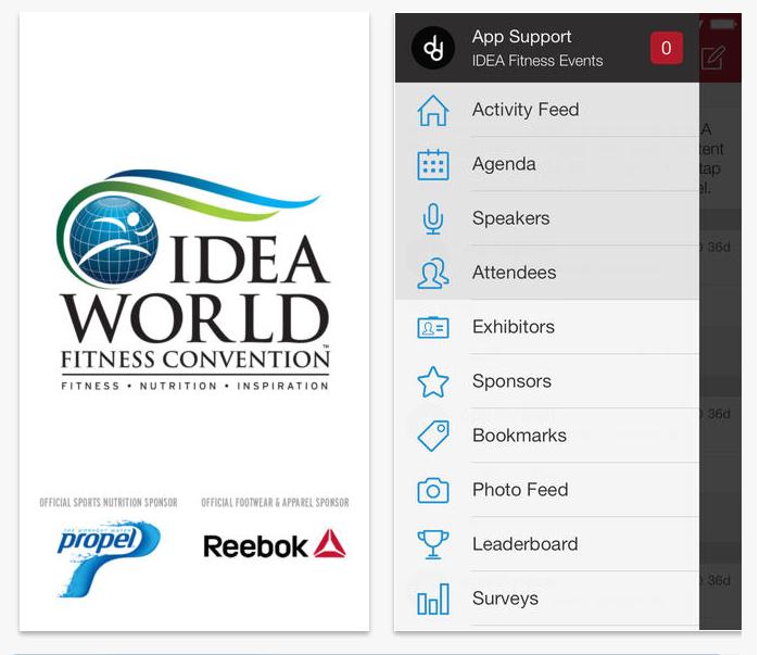 IDEA Fitness Events App