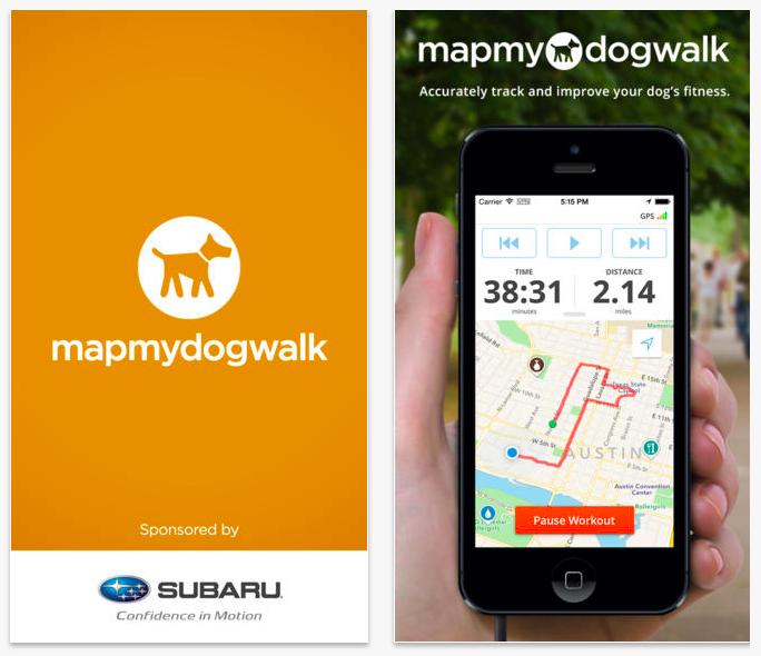 MapMyDogWalk app
