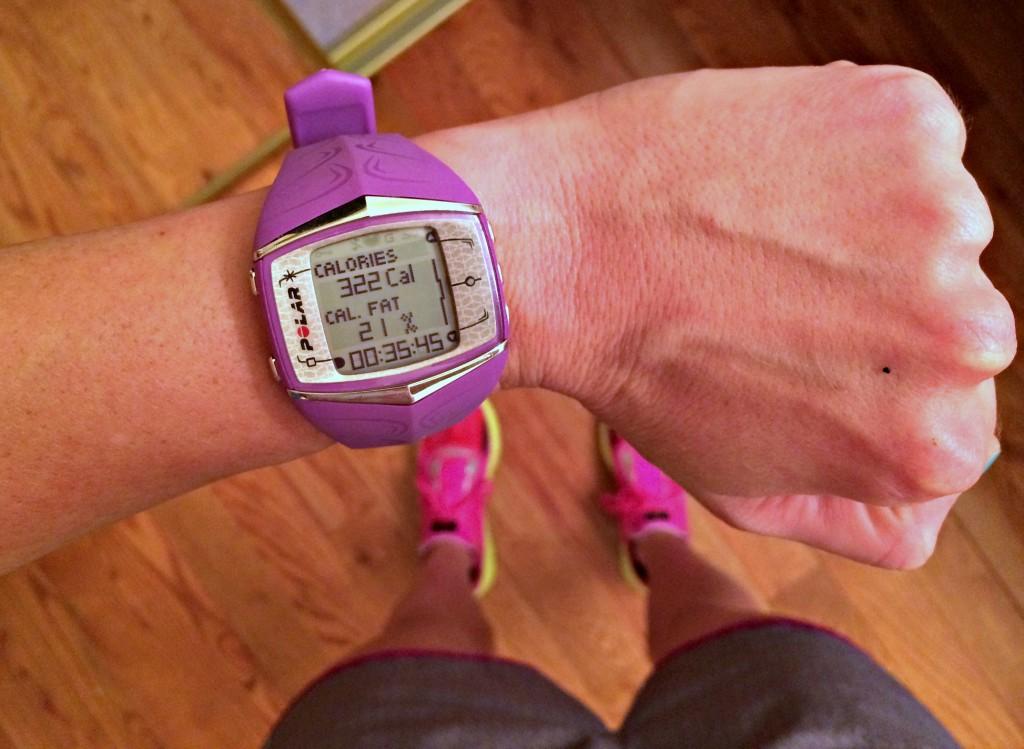 Polar F60 HR monitor watch after running