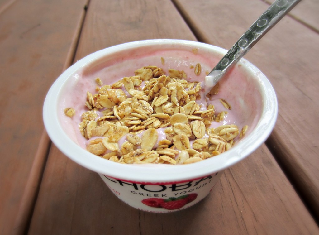 Raspberry Greek yogurt healthy snack