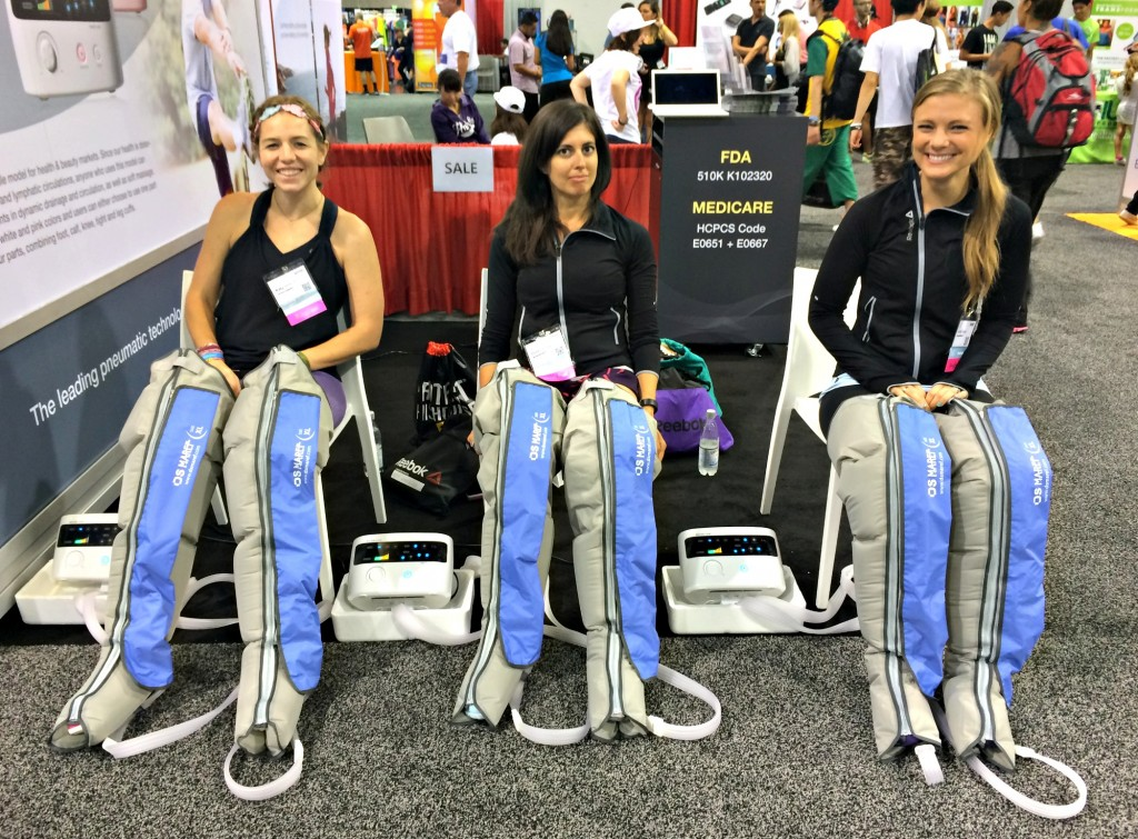 compression and massage therapy pants IDEA World Fitness Convention