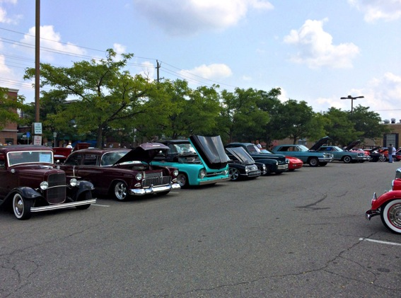 Downtown rochester car show