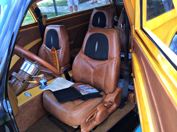Woody ford classic car