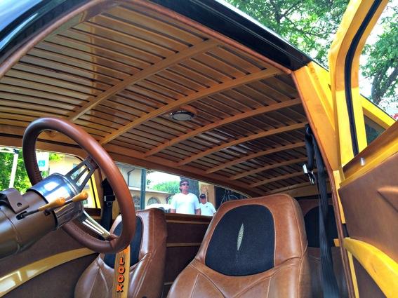 Woody hand crafted custom car