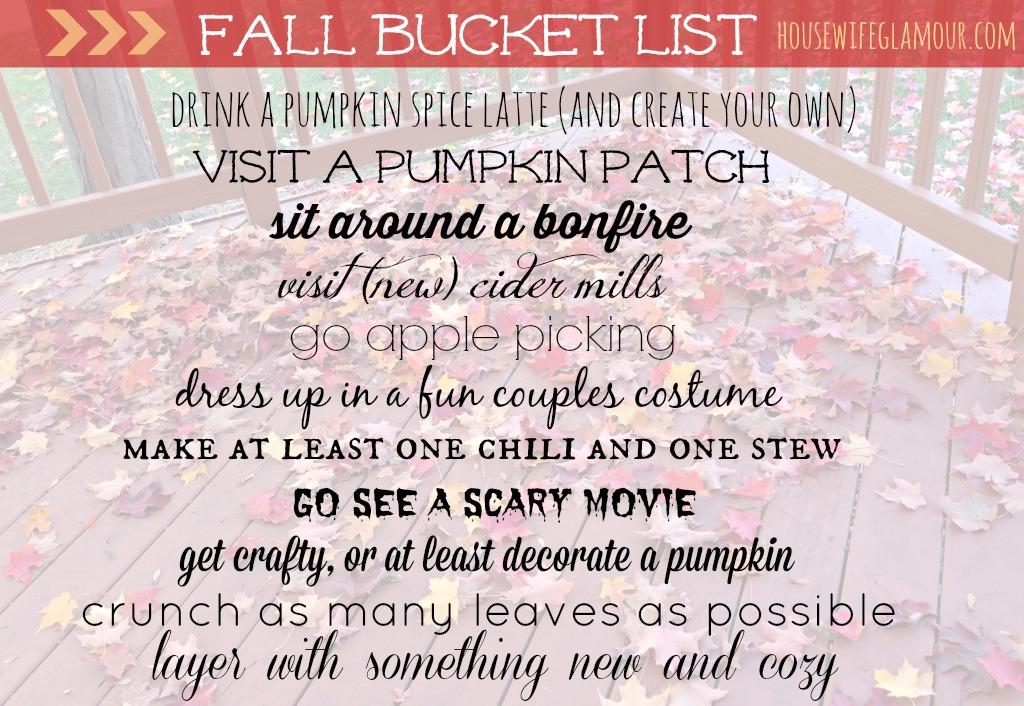 2014 Fall Bucket List