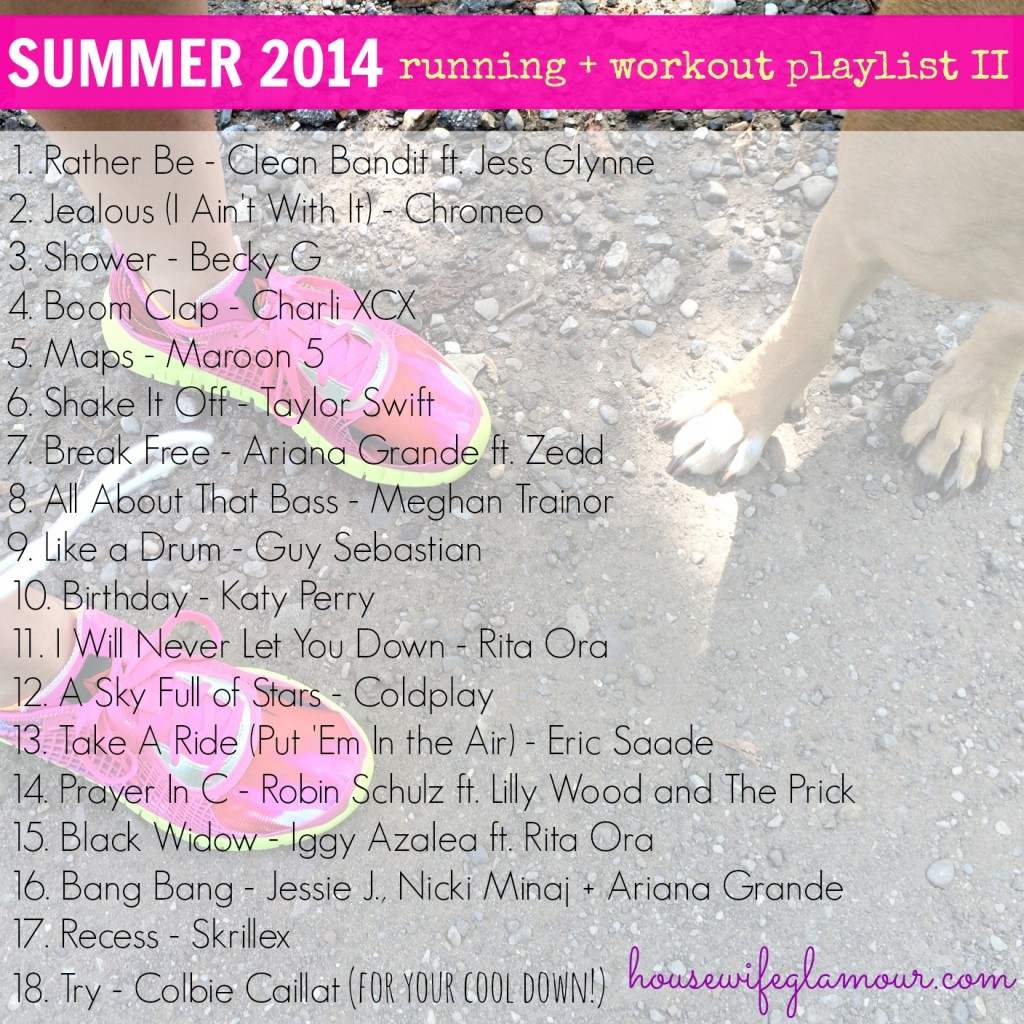 Summer 2014 running and workout playlist