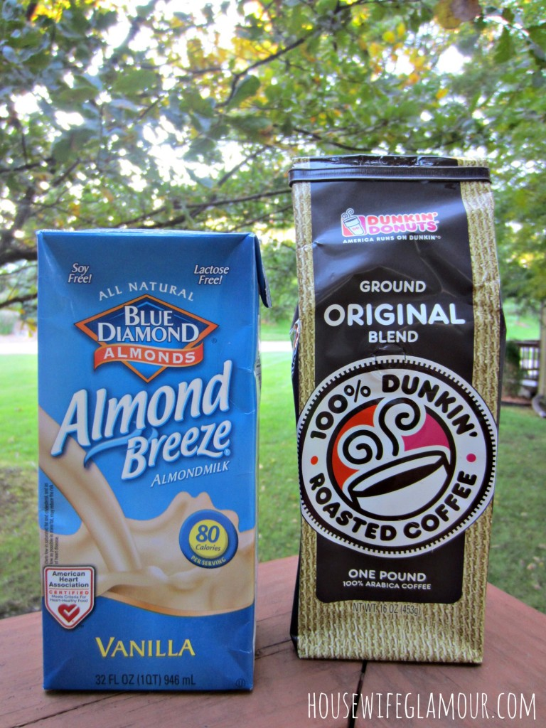 blue diamond almond breeze at dunkin donuts coffee