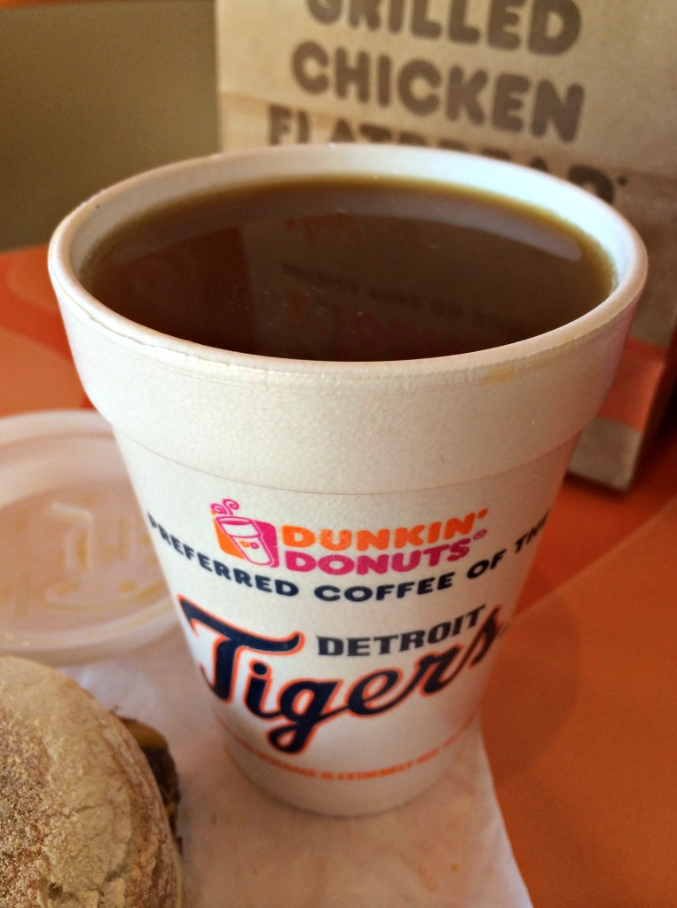 dunkin donuts coffee with almond breeze almond milk
