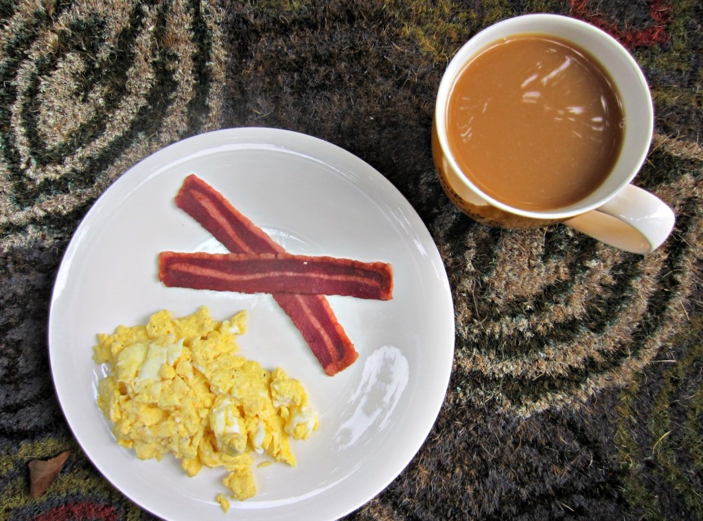 egg white and turkey sausage breakfast
