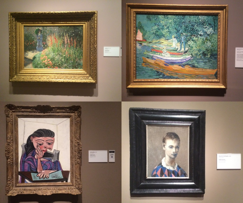 famous art at the DIA picasso, van gogh