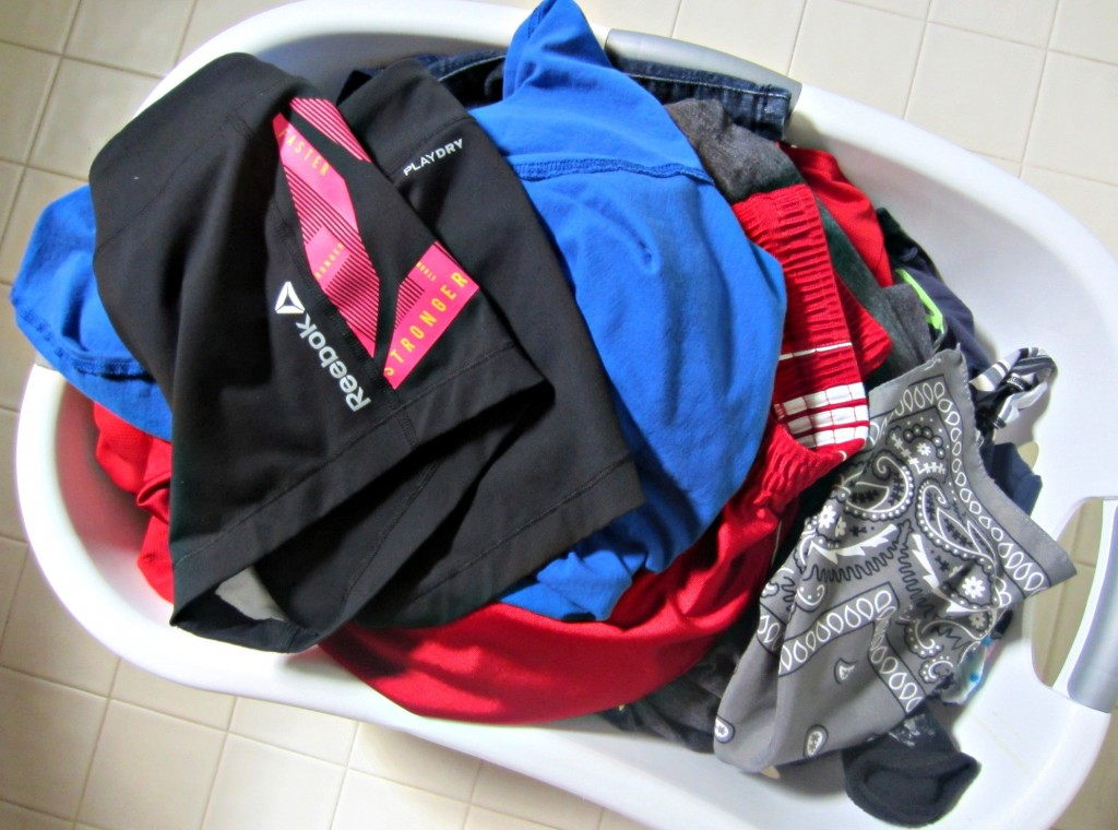 fresh and clean laundry to fold