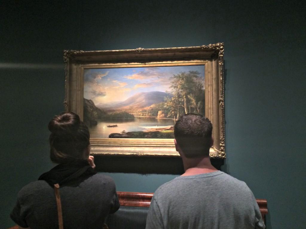 looking at art at the DIA