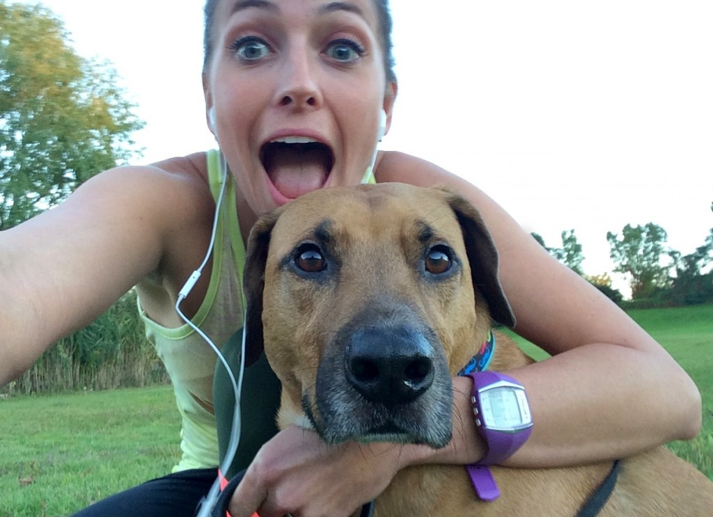 selfie with roadie on my run