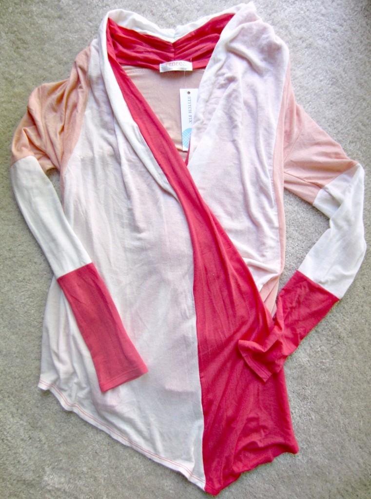 stitch fix renee C soft orange draped cardigan