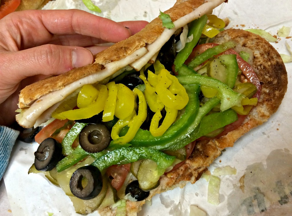 subway loaded veggie sandwich