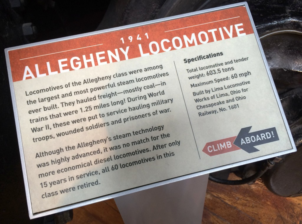 Allegheny Locomotive 1941 Henry Ford Museum information