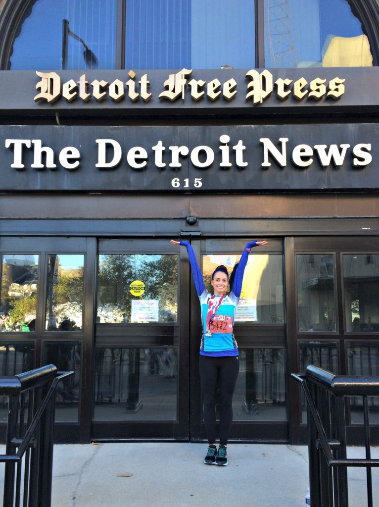 Detroit Free Press post race picture