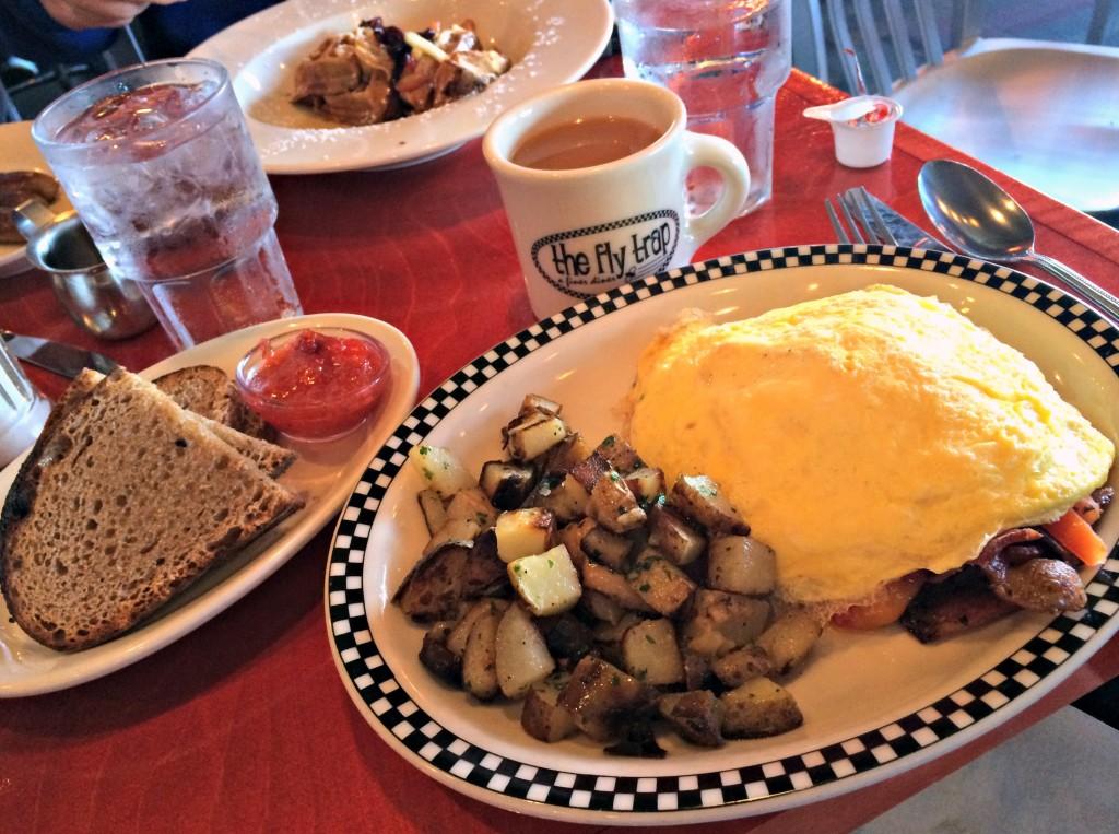 The Fly Trap omelet breakfast