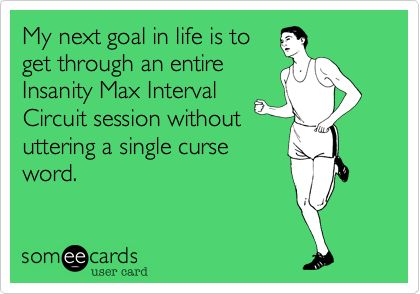 funny instantiy workout someecard