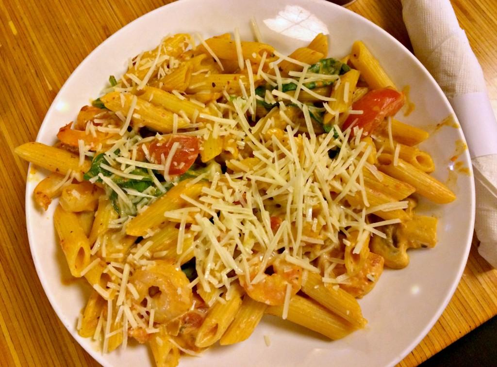 noodles shrimp and pasta