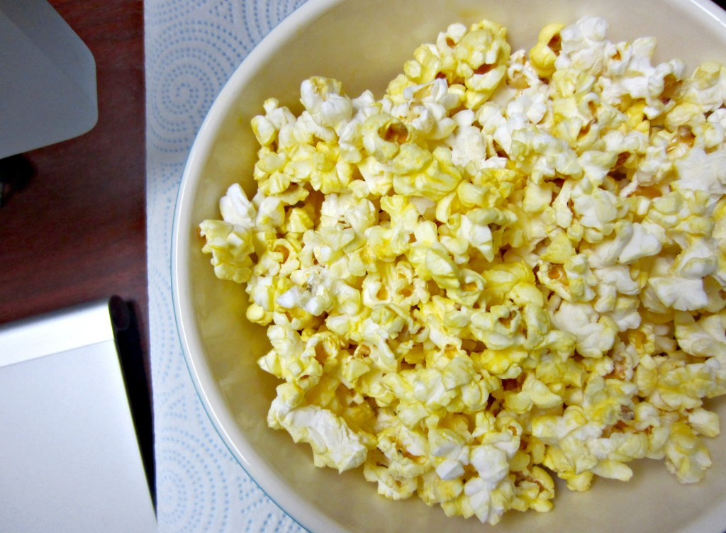 popcorn for dessert