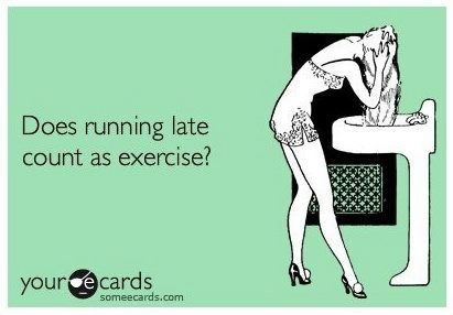 running late someecard