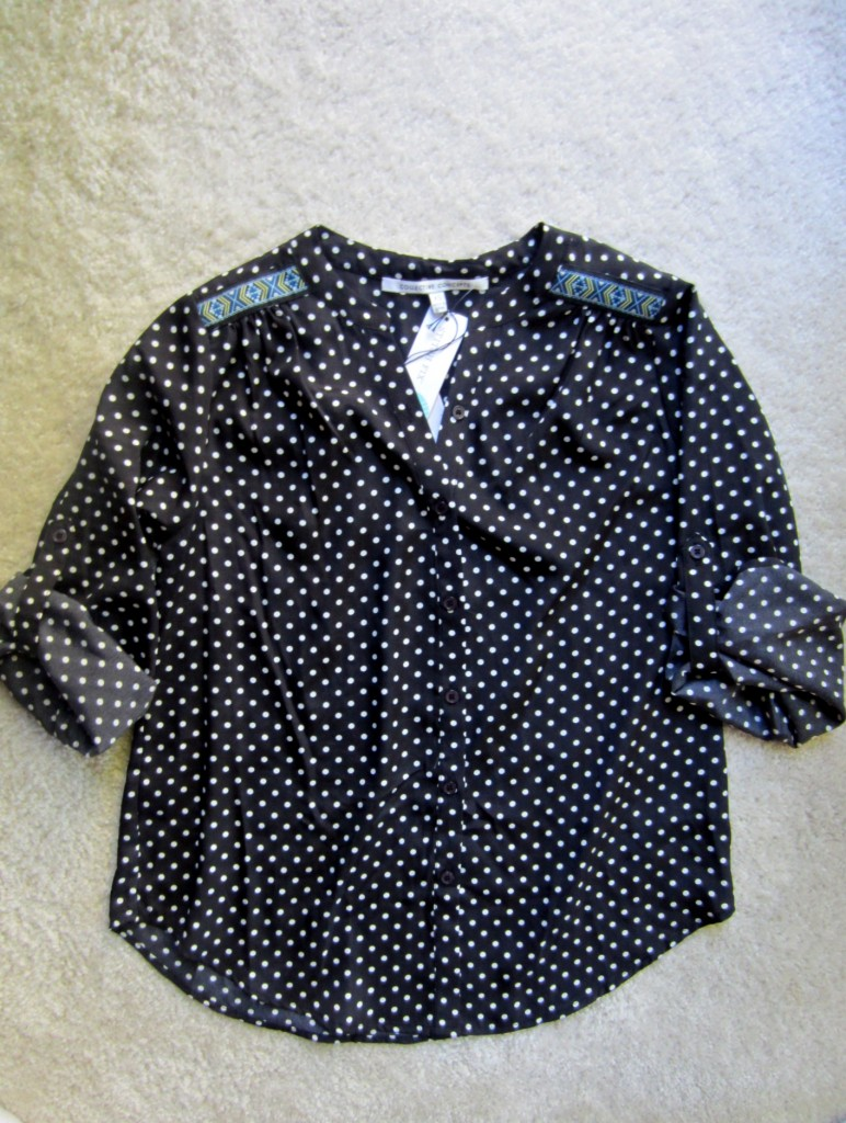 stitch fix collective concepts melandry dot print button-up blouse
