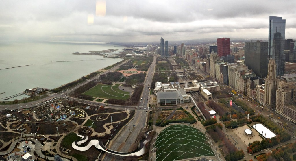 Chicago from view a high rise